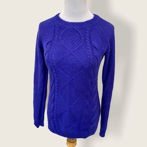 H&M Cable Knit Cobalt Blue Maternity Sweater - XS
